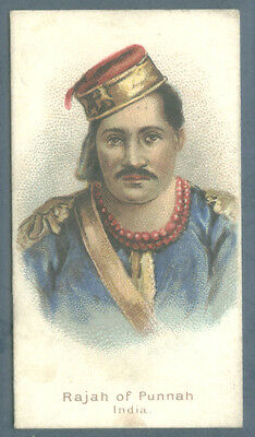 N189 Kimball tobacco cigarette card Savage Chiefs Rulers Raja of Punnah Ex 1889
