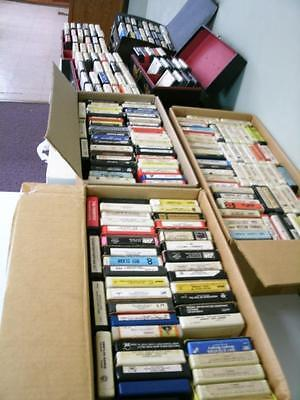 Lot of 219 8-TRACK TAPES CLASSIC COUNTRY, ROCK, TOO MANY TO LIST SEE PICS