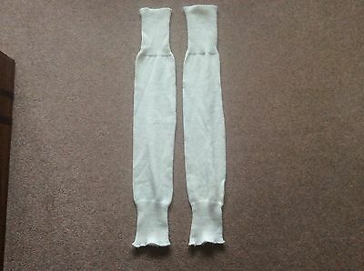 Genuine vintage 1980s cream leg warmers
