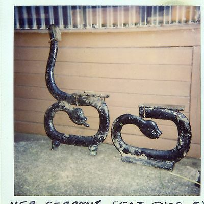 Pair North Eastern Railway Cast Iron Serpent Seat Ends Ex Coxgreen Station