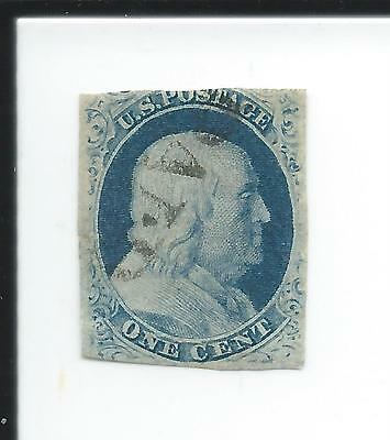 1857 Franklin, #24 ?, used stamp with PAID cancel.
