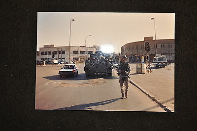 EARLY OPERATION IRAQI FREEDOM 1st ARMORED DIVISION PHOTO-BRADLEY AT INTERSECTION