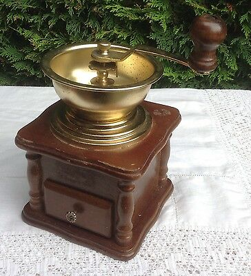 Vintage Style Wooden Coffee Grinder With Drawer