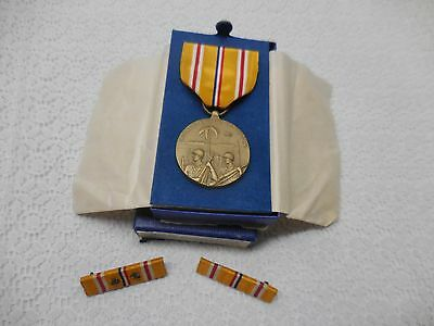 Ww2 Wwii Medal Asiatic Pacific Campaign Medal With Ribbons, Stars & Box Set