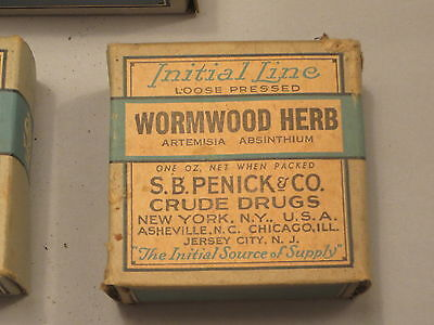 Patent Medicine Initial Line WORMWOOD HERB