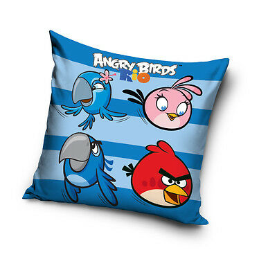 NEW LICENSED ANGRY BIRDS RIO 01 cushion cover 40x40cm 100% cotton