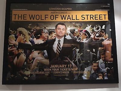 Wolf Of Wall Street 2013 UK Quad Cinema Poster 30 X 40""