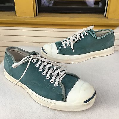 Vintage Converse Jack Purcell - Made In USA - Green Sz 11 Canvas Sneakers Shoes