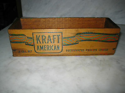 Vtg Kraft American Wood Crate Box 2 lbs. Phenix Cheese Corp. Chicago