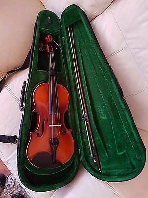 Violin Complete With Bow & Case Including Extra Strings