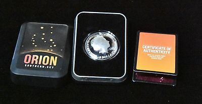 2014 $5 Silver Proof Colour Painted Domed Coin Orion Of The Sky