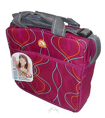 Igloo Cross Body 12 Can Insulated Lunch Cooler Shoulder Bag Abstract Pink NEW