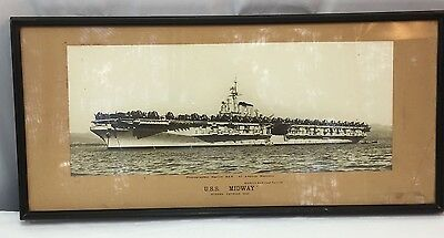 1948 USS Midway CV-41 Large Framed Panoramic Photo