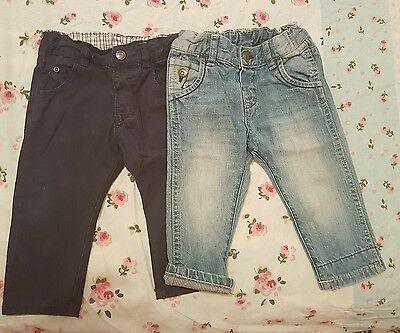 zara baby boy jeans and trousers size 9-12m