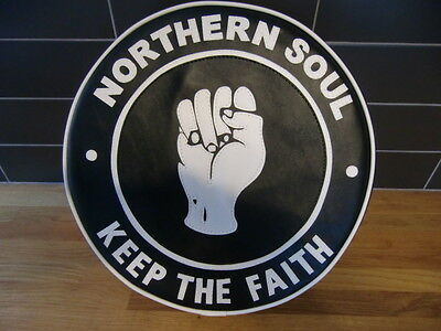 Black and White Northern Soul Fist Scooter Wheel Cover
