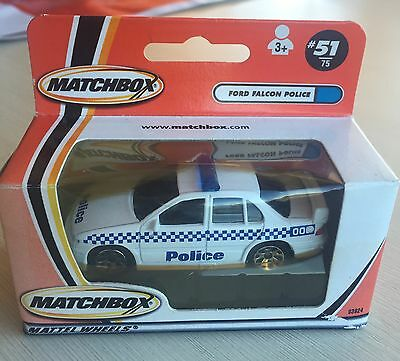 Matchbox MB-51 Ford Falcon Police Car Diecast Boxed HTF