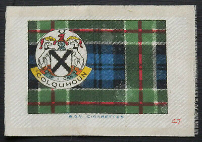 COLQUHOUN Clan Tartan and Coat of Arms SILK card issued in 1922