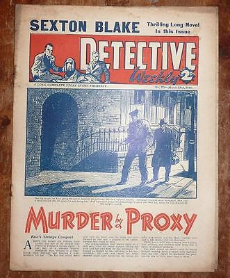 DETCTIVE WEEKLY No 370 23RD MAR 1940 MUDER BY PROXY, SEXTON BLAKE