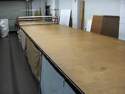 FABRIC/CLOTH INDUSTRIAL CUTTING TABLE with LAYING-UP TROLLEY/MACHINE