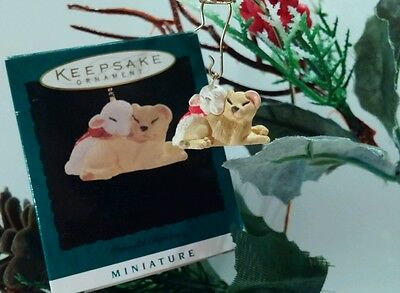 "Hallmark Miniature Ornament ""Peaceful Christmas"" Lion & Lamb"