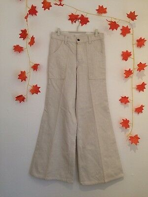 True Vintage 1970s Thick Drill Wide Leg Trousers