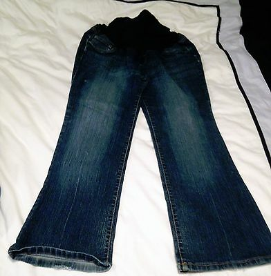 Gently Worn Boot Cut Full Panel Bump in the Night Maternity Jeans Size Large
