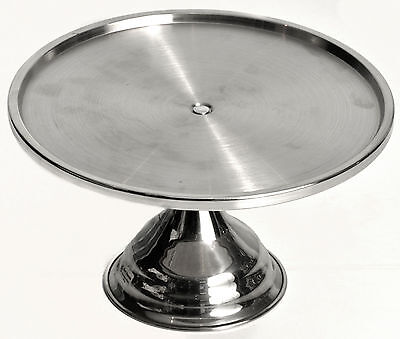 12 x NEW Stainless Steel Cake Stand Display 325mm DIA x 180mm H