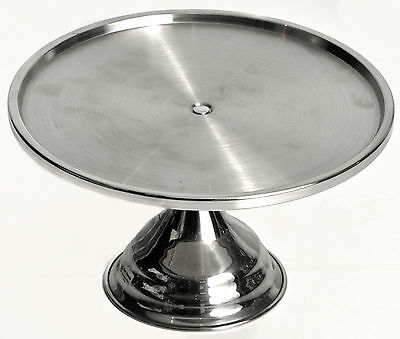 3 x NEW Stainless Steel Cake Stand Display 325mm DIA x 180mm H