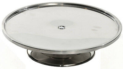 12 x NEW Stainless Steel Cake Stand Display 325mm DIA x 80mm H
