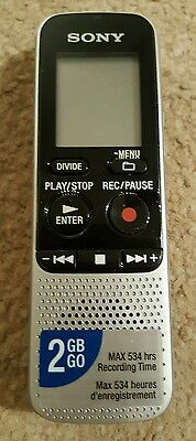 Sony Icd-Bx112 Handheld Ic Digital Voice Recorder Dictaphone Dictation Mp3 2Gb