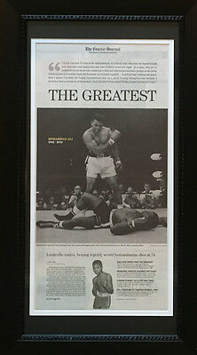 Muhammad Ali Framed Louisville Courier Journal Newspaper Day After Death Boxing
