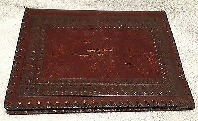 Krewe of Elenians 1961 Mardi Gras Favor Leather Italy Hand Made Date Book Estate