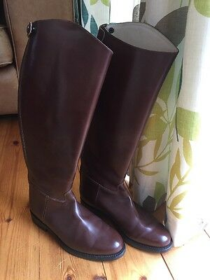 Regent, Brown Leather Riding/Show/Dressage Boots. Size 7. BNWOB. RRP: £259