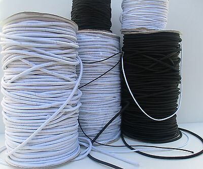 Elastic - Round Elastic Cords For Sewing Requirments & Crafts - 1Mm, 2Mm, 3Mm