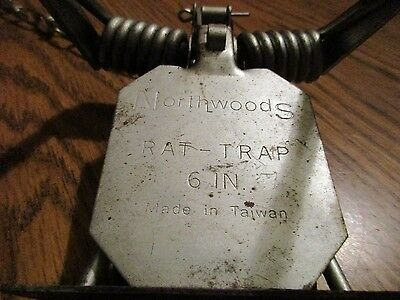 Vintage Northwoods 6 inch prototype quick kill trap,trapping