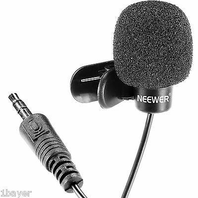 Neewer Clinic Office Clerk Hand Free Computer Clip on Mini Mic Lapel Microphone