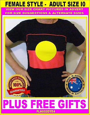 Aboriginal flag ladies top T Shirt female ADULT SIZE 10-12 large