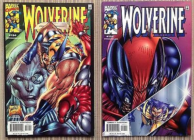 Wolverine #154 - #155 (Marvel 2000) Deadpool - Rob Liefeld Covers