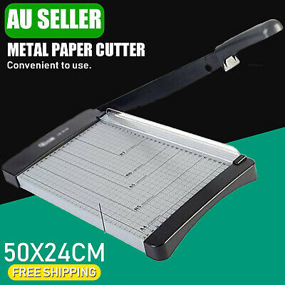 A4 to B7 Steel Paper Photo Cutter Guillotine Trimmer Knife Metal Base 10 Sheets