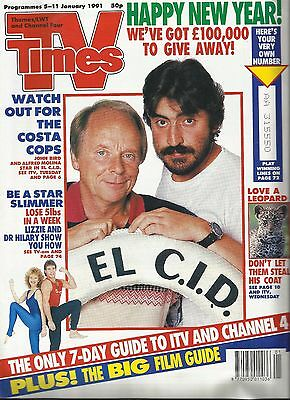 TV Times 5th-11th January 1991 John Bird and Alfred Molina on cover Thames/LWT