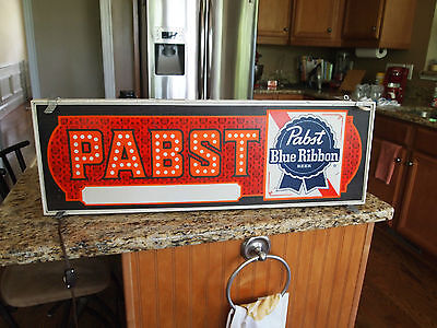 Vintage  Pabst Blue Ribbon Light Up Sign - Pbr - Man Cave ~ Bar Sign ~ Rare
