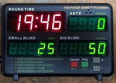 The Poker Genie Pro Edition Tournament Manager Timer