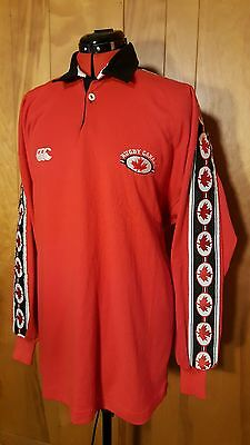 RARE Canterbury of New Zealand Rugby Canada Long Sleeve Jersey Embroidered XL