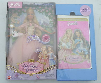 NIB Barbie The Princess and the Pauper Princess Anneliese SPECIAL VALUE PACKET