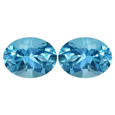 2.46Ct Attractive Oval cut 8 x 6 Top Luster 100% Natural Blue Topaz