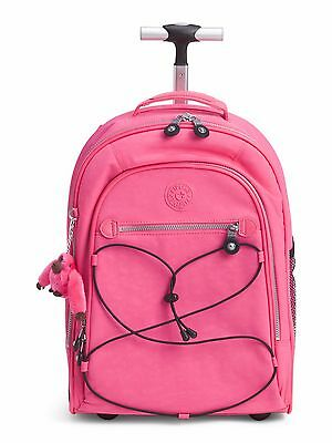 NWT Kipling Sausalito Rolling Backpack, Hydrangea/Pink ~@$70 OFF!!