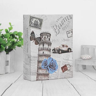 """6""""x4"""" Slip In Photo Album For 200 Holds Vintage Leaning Tower Baby Memory Book K"""