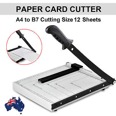 1X Paper Photo Cutter A4 To B7 Guillotine Trimmer Knife Metal Base Portable Card