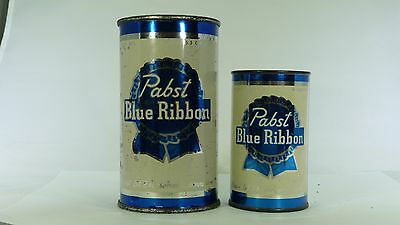 Pabst Flat Top Beer Can with Matching Mini Bank Can