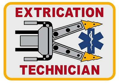Extrication Technician Large Reflective Decal Sticker Fire Rescue Star of Life